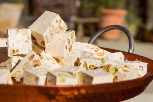 What is a nougat made of?