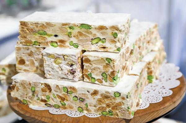 Wholesale price changes of nougat in recent years